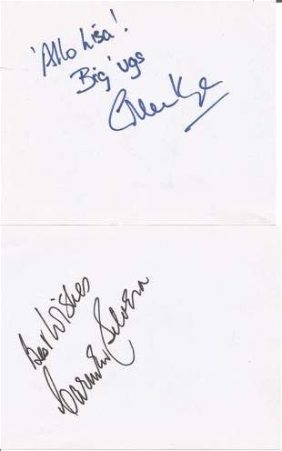 Allo Allo actors. Gordon Kaye & Carmen Silvera. Two