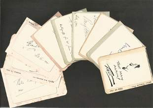 Authors & Journalists A collection of ten 1940's small,