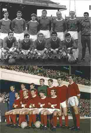 Football Autographed Arsenal 8 X 6 Photos Col & B/W,