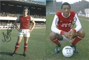 Football Autographed Arsenal 8 X 6 Photos Col,