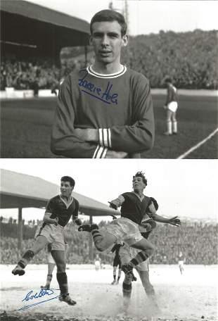 Football Autographed Cardiff City 8 X 6 Photos B/W,