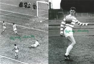 Football Autographed Celtic 8 X 6 Photos Col & B/W,