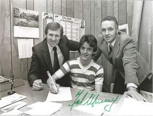 Football Autographed Celtic 8 X 6 Photos B/W, Depicting