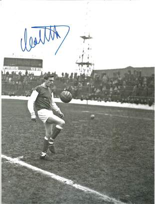 Football Autographed Hibernian 8 X 6 Photos B/W,