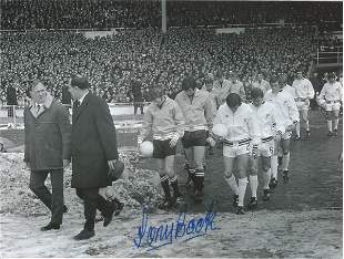 Football Autographed Manchester City 8 X 6 Photos B/W,