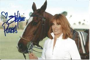 Stephanie Powers signed 6x4 colour photo with horse.
