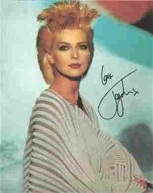 Toyah Wilcox signed 10x8 colour 80's photo. Good