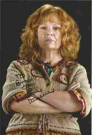 Julie Waters signed 12x8 colour Harry Potter photo.