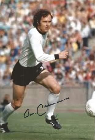 Franz Beckenbauer signed 12x8 colour photo. Grainy