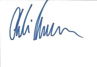 Charlie Hunnam Signed 6x4 White Card With 10x8 Colour