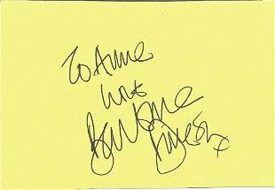 Barbara Dickson signed album page. Dedicated. Good