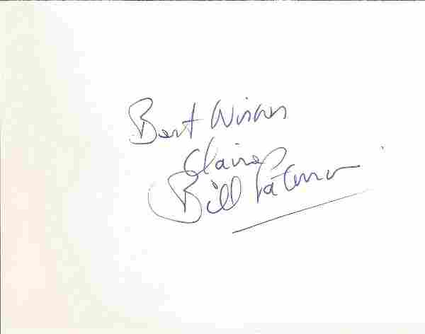 Bill Paterson signed album page. Good condition. All