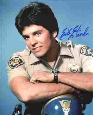 Erik Estrada signed 8x10 photo from the popular 1980'a