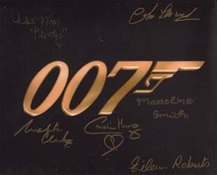 007 James Bond multi signed 8x10 photo signed by SIX