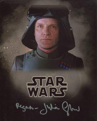 Star Wars 8x10 scene photo signed by actor Julian