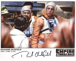 Star Wars 8x10 photo from Return of the Jedi, signed by