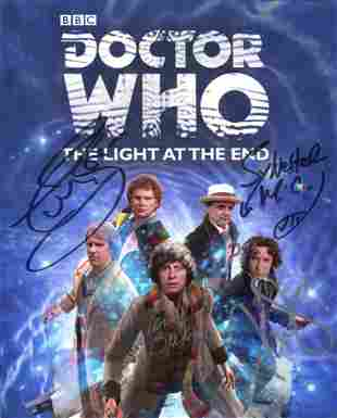 Doctor Who 8x10 photo signed by FOUR actors who were