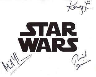 Star Wars multi signed 8x10 movie photo signed by THREE