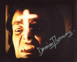 Twins of Evil horror movie photo signed by actor Damien