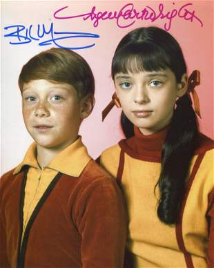 Lost in Space 8x10 photo signed by actors Bill Mumy and
