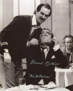 Fawlty Towers 8x10 comedy scene photo signed by actor