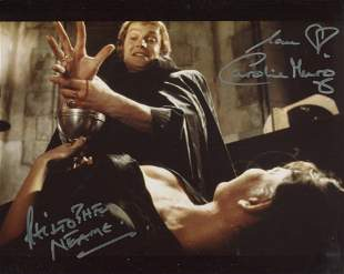 Dracula AD1972 horror movie photo signed by Caroline