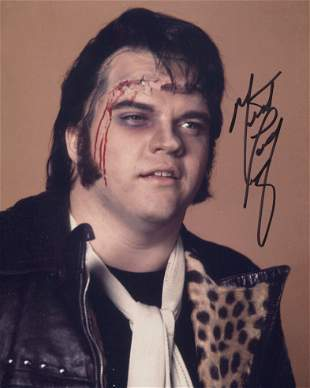 Meatloaf, nice 8x10 photo signed by heavy rocker and