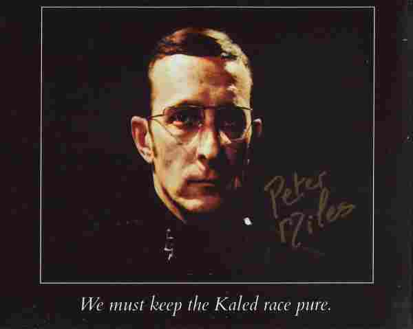 Doctor Who 8x10 photo signed by actor the late Peter