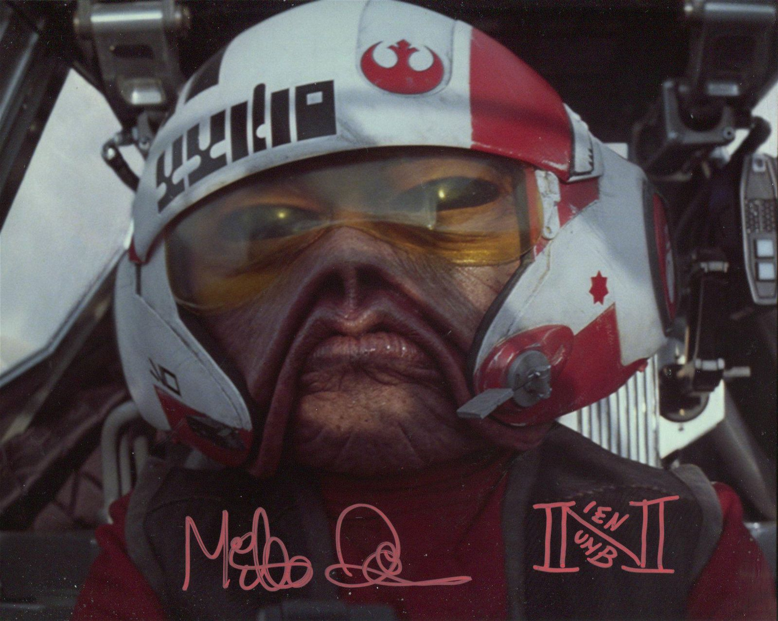 Star Wars 8x10 photo signed by actor Mike Quinn as Nein