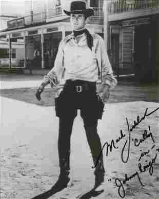 Mark Goddard signed 8x10 photo from the TV western