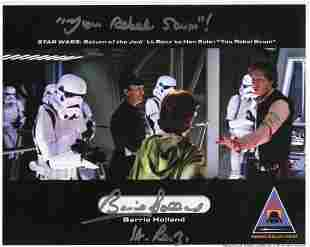 Star Wars 'Rebel Scum' signed photo signed by actor