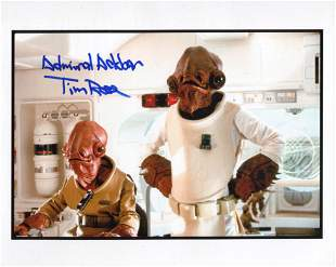Star Wars Admiral Ackbar 8x10 photo signed by actor Tim