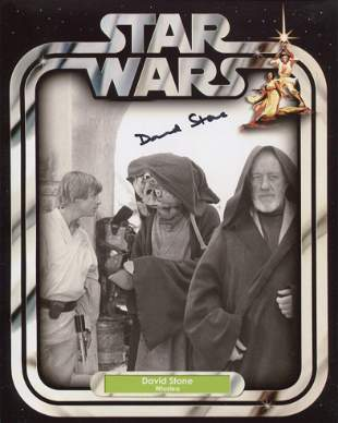 Star Wars. Nice 8x10 photo signed by Star Wars actor