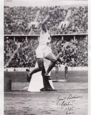 1936 Berlin Olympics 8x10 photo signed by long jumper