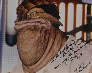 Star Wars Episode II 8x10 photo signed by actor Ronnie