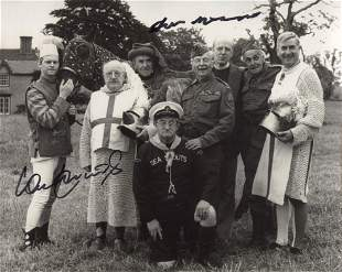 Dads Army 8x10 comedy photo signed by actors Frank