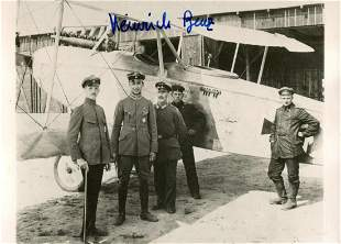 Great War ace Heinrich Benz signed 5x3 inch photo. Good
