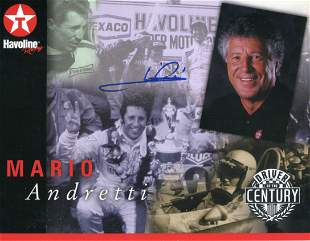 Mario Andretti 8x10 photo signed by Sports Racing Car &