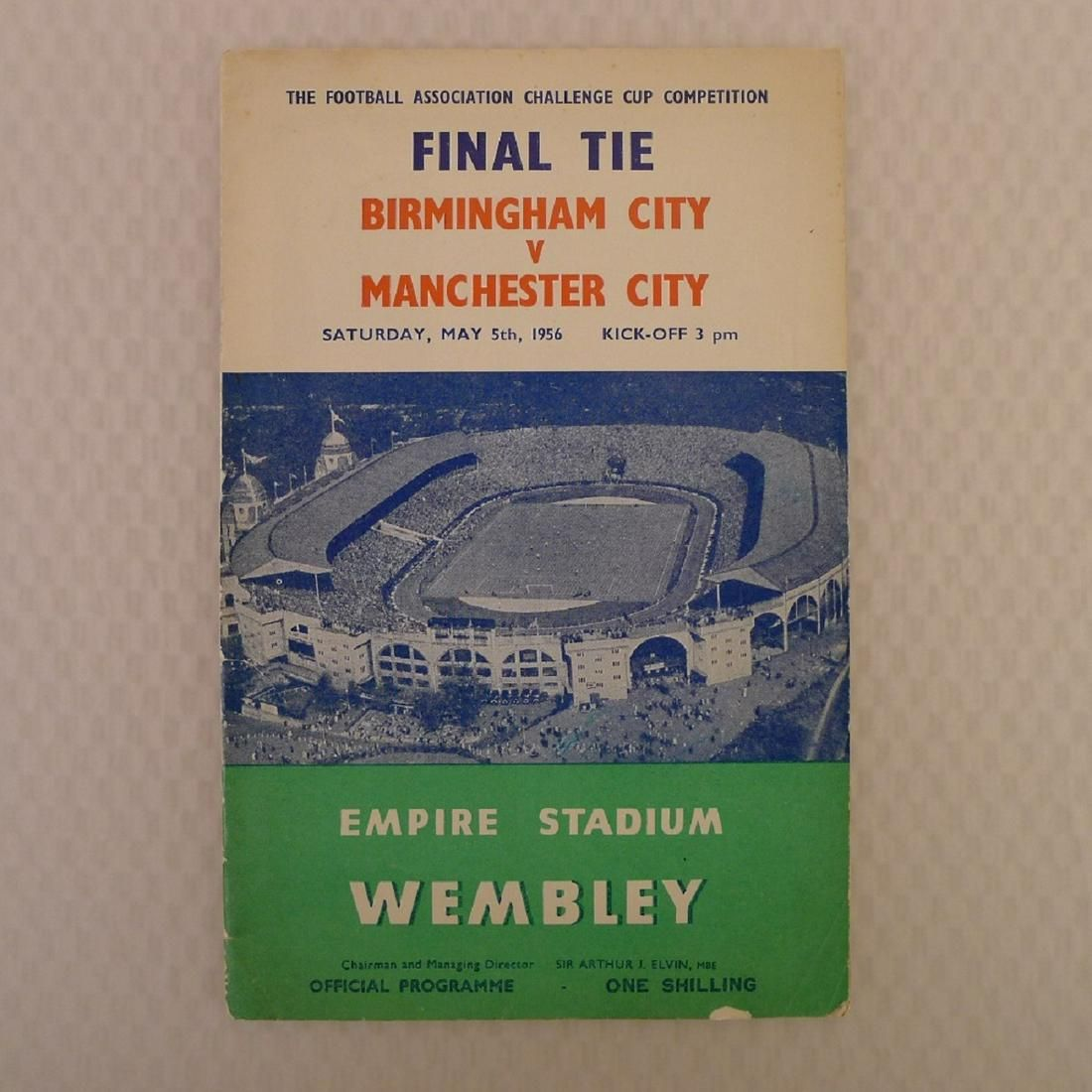 Vintage football programme. FA Cup Final 1956 -