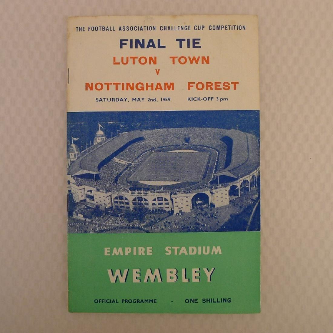 Vintage football programme. FA Cup Final 1959 - Luton