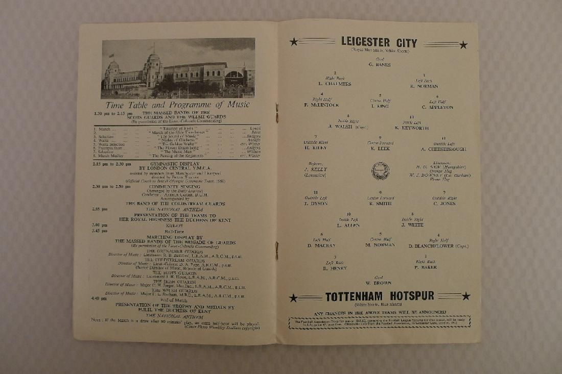 FA Cup football programme Final 1961 - Leicester City v