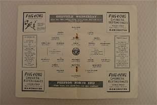 FA Cup football programme Semi Final 1954 - Preston