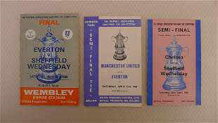 FA Cup football programmes 1966 1 x Final and 2 x Semi