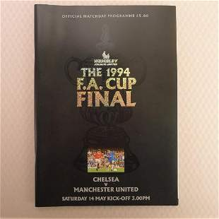 FA Cup football programme FA Cup Final 1994 Chelsea v