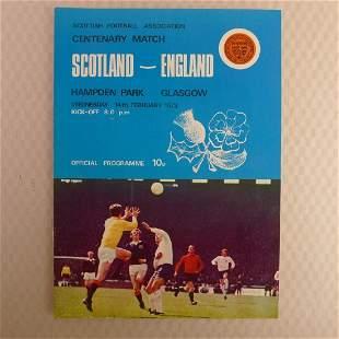 Rare England Football Programme. Scotland v England