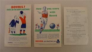 England Football Programmes. 3 x England v Wales 1950s