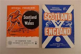Scotland Football Programmes. Scotland Football