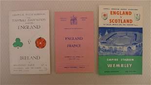 International Football Programmes. 3 x England Amateur
