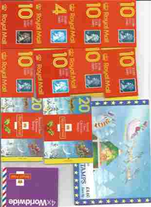 GB mint stamp Booklets approx. £20+ face value. One