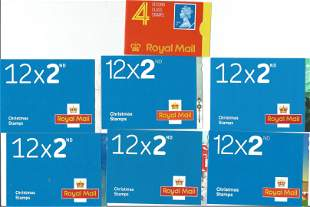 GB mint stamp Booklets approx. £36+ face value. One